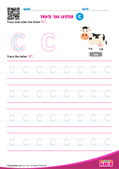 Write lowercase letter c